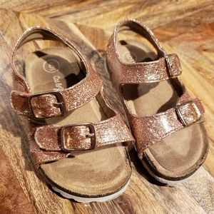 Bronze toddler sandals